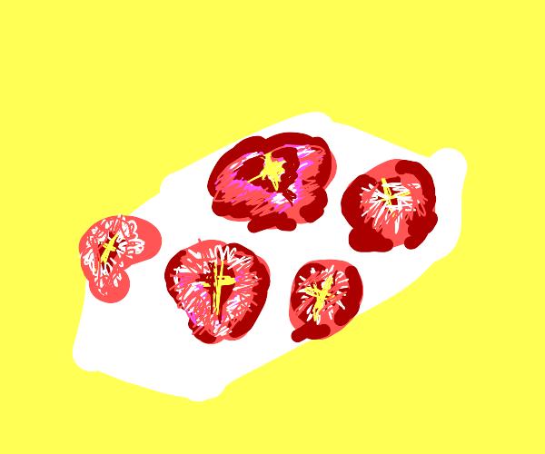 Strawberry tofu