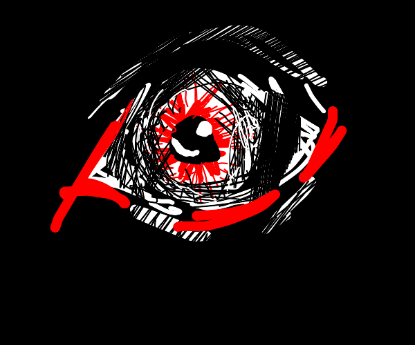 eye is the void with red scribbles