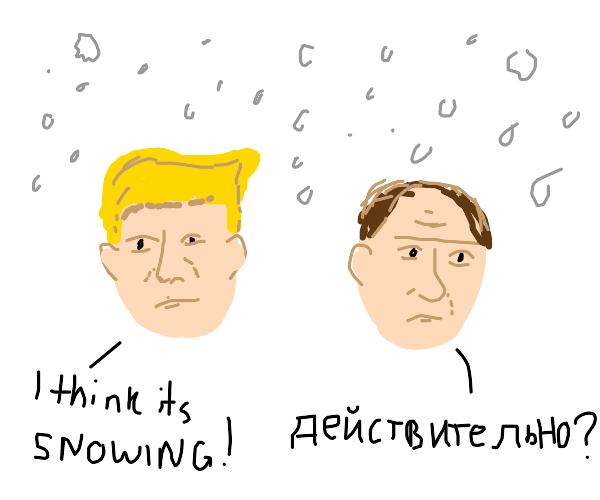 Trump & Putin in the snow