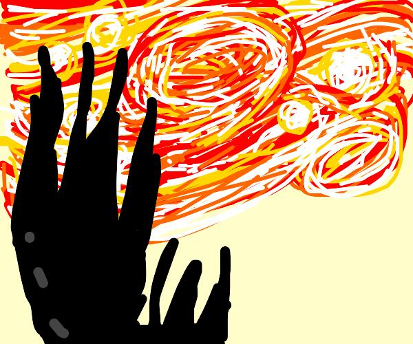 Starry Night on fire