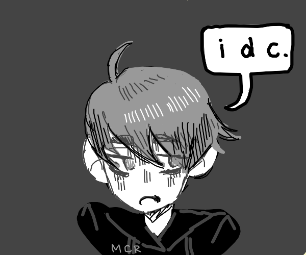 Emo manga dude, not caring