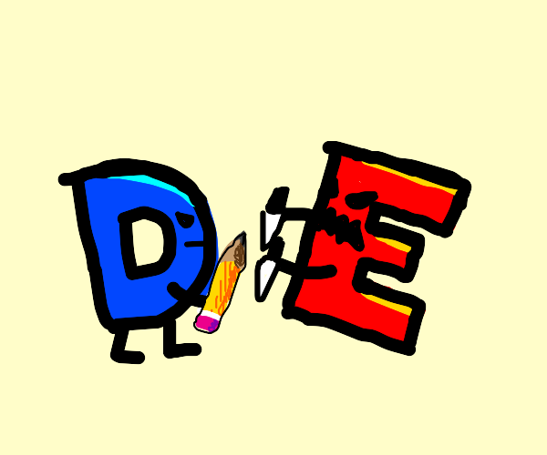 Drawception D and E are fighting