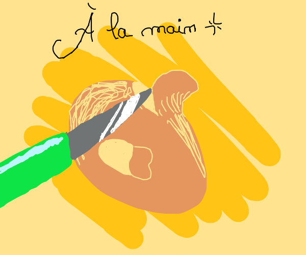 Potato man gets peeled