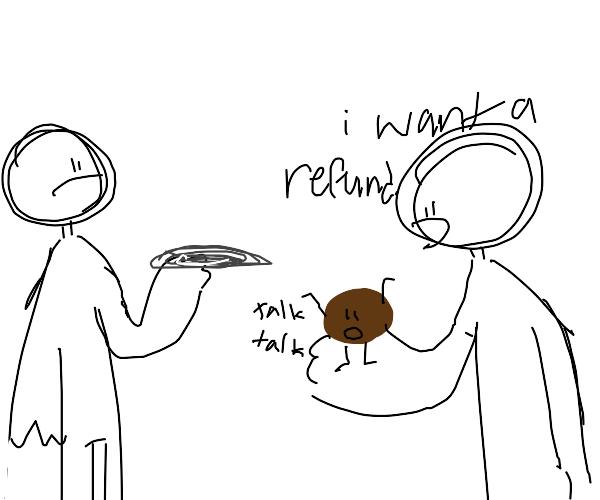 Waiter, id like a refund,my meatball can talk