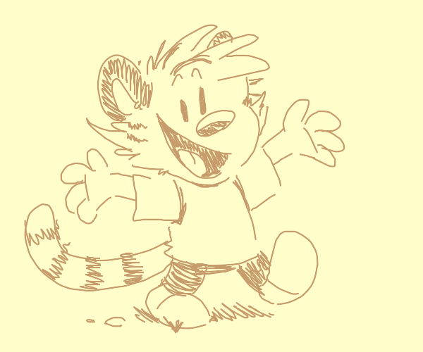 if Calvin and Hobbes were joined as one