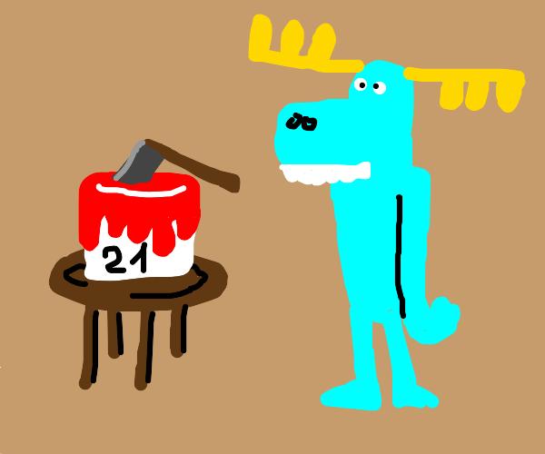 happy tree friends moose has a birthday party