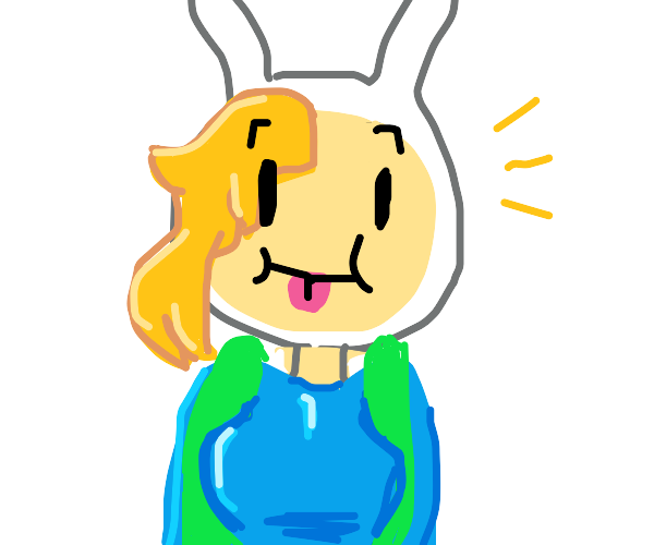 Fionna (Adventure Time) sticks out her tongue
