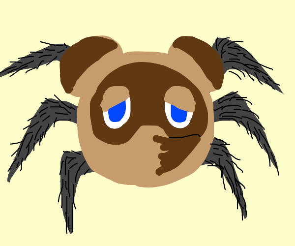 Tom Nook as a spider