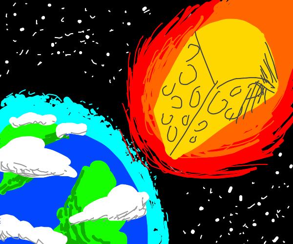 Cheese meteor hits earth