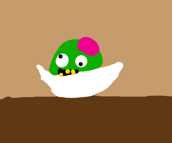 Zombie head in a bowl