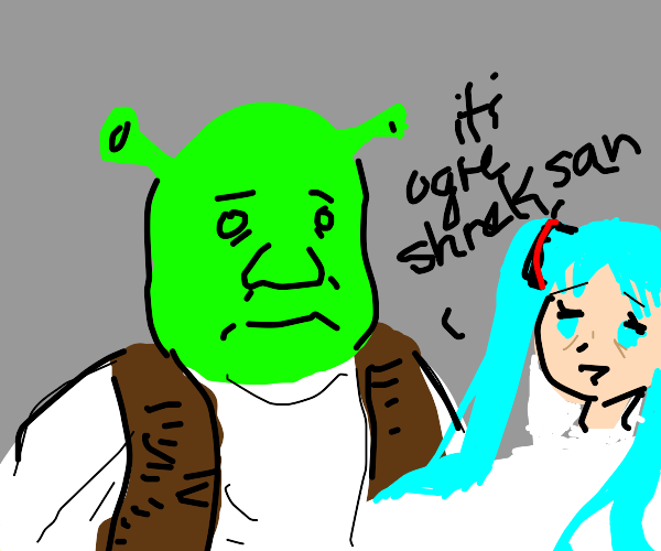 Shrek visits sick girl