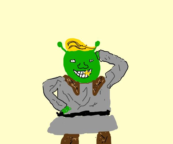 Shrek has fake hair!