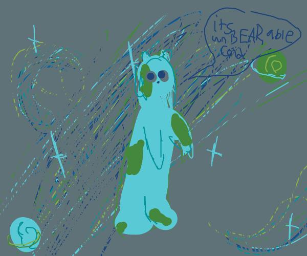 earth-bear freezing in cosmos