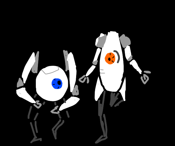 Robots from portal 2