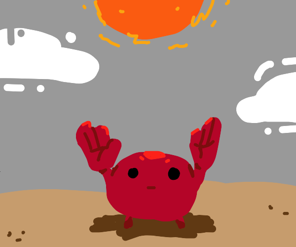 crab with human hands