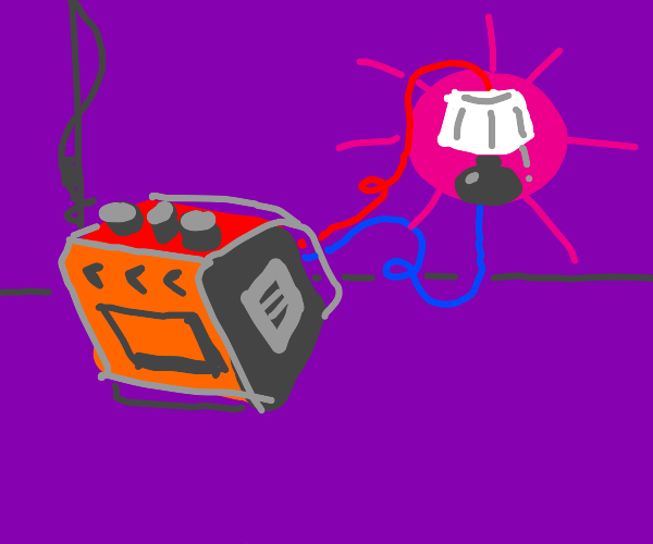Generator providing power to lamp