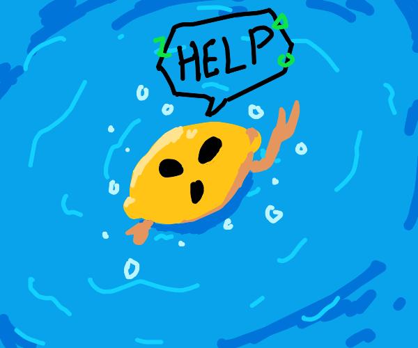 Drowning Alien Lemon
