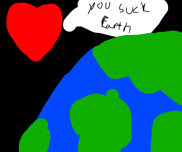 giant heart is space tells earth it sucks
