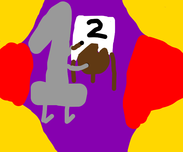 #1 paints #2 on a Childs Easel.