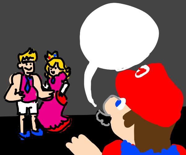 Super Mario meets princess' dad