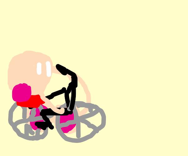 Kirby's bike broke  :-(