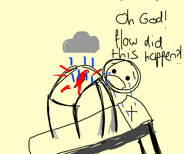 tears on my pillow, rain in my heart