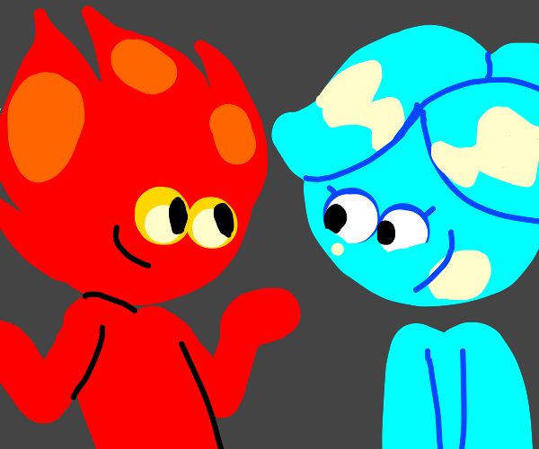 fire boi and lava girl from cool math games