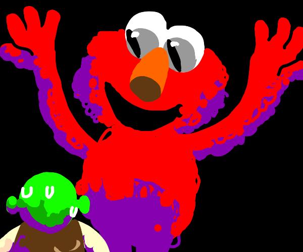 Elmo intimidates Shrek
