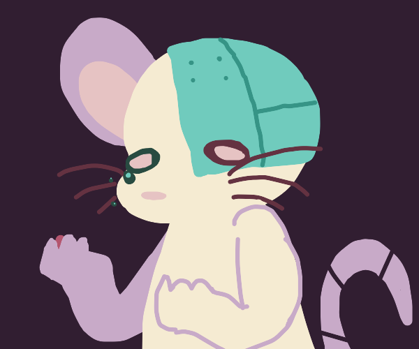 Cyborg Mouse with hurt feelings