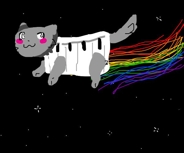Nyan cat but piano