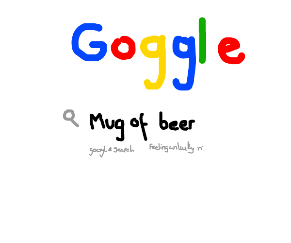 Google searching a mug of beer