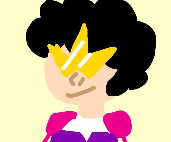 Steven Universe dressed up as Garnet