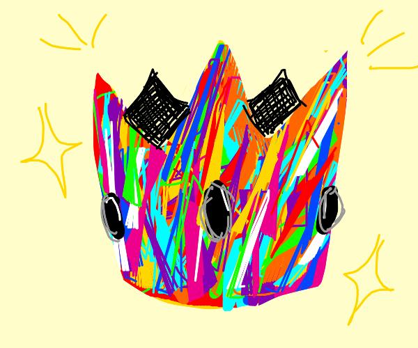 Rainbow coloured crown