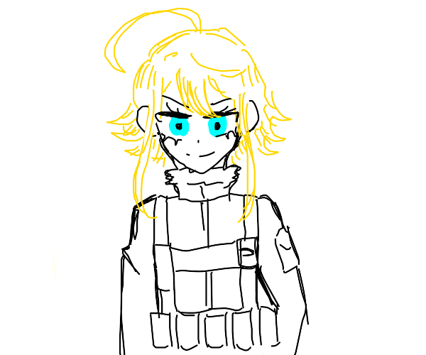 Military looking generic manga character