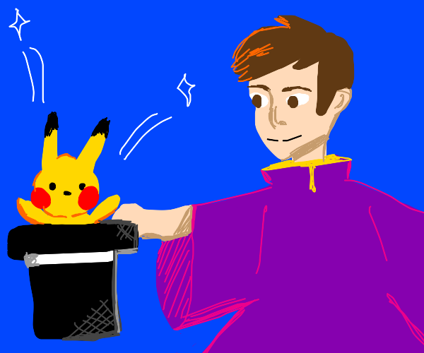 magician and pikachu
