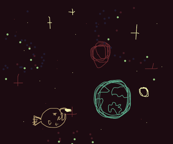 anglerfish but in space