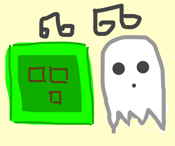 a slime and a ghost singing