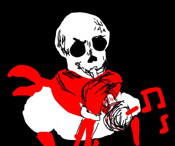 doot skeleton but also papyrus
