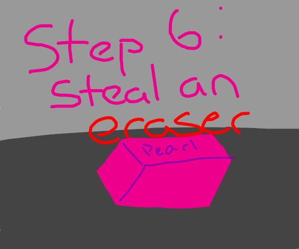step 5: keep the pencil