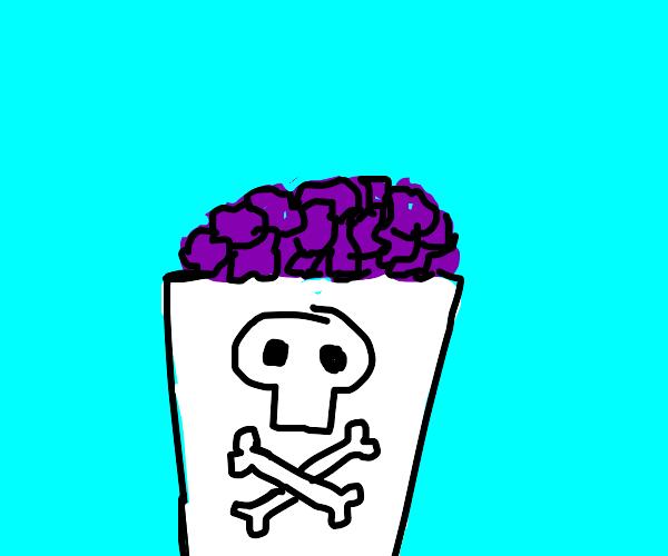 Poisonous purple popcorn