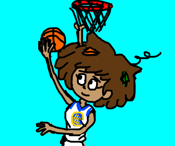 amphibia girl plays basketball