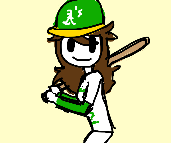 Girl Baseball Player