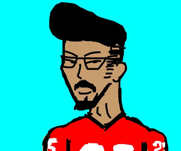 Pompadour man