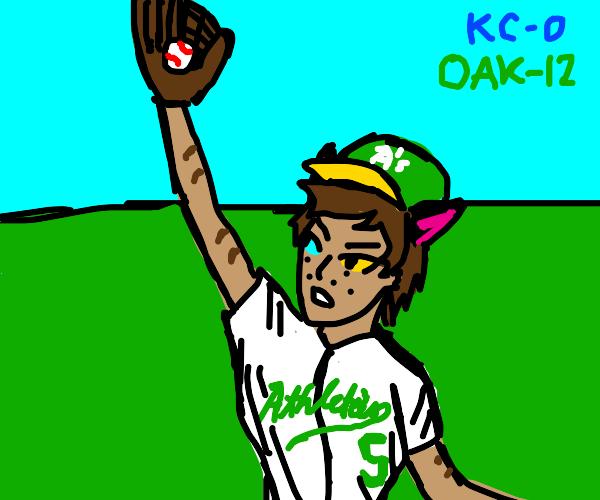 furry man baseball