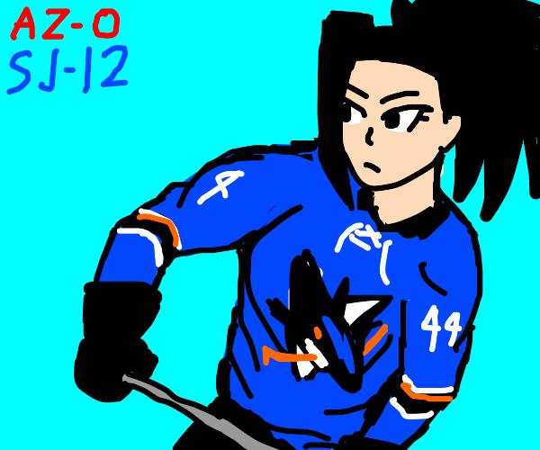 anime girl hockey player