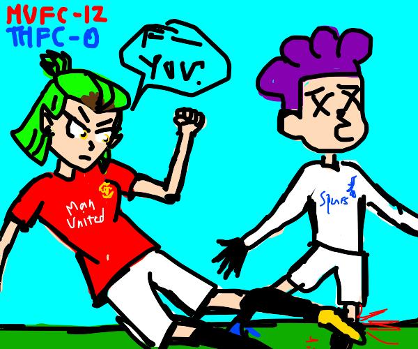 Communist Amity plays soccer