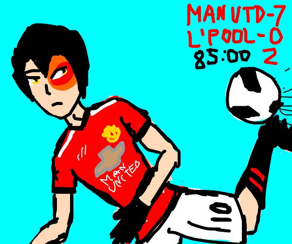 Zuko play soccer/football