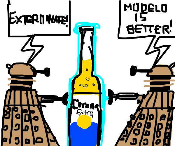 Daleks exterminate Corona