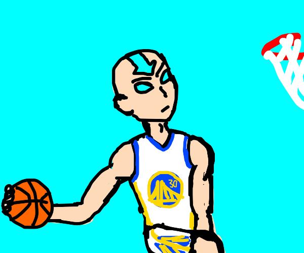 Aang playing basketball (Atla)