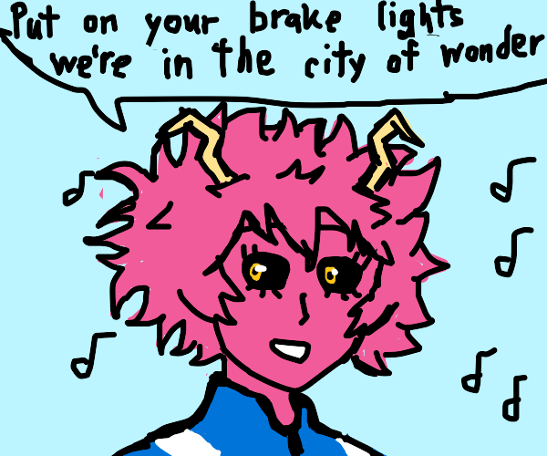Pink girl from MHA singing